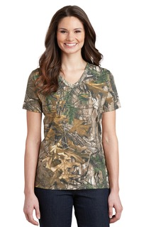 Russell Outdoors Realtree® Ladies 100% Cotton V-Neck T-Shirt.