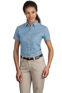 Port & Company® - Ladies Short Sleeve Value Denim Shirt.