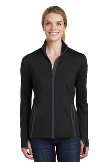 Sport-Tek® Ladies Sport-Wick® Stretch Contrast Full-Zip Jacket.