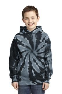 Port & Company® Youth Tie-Dye Pullover Hooded Sweatshirt.