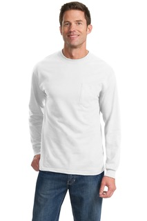 Port & Company® Tall Long Sleeve Essential Pocket Tee.