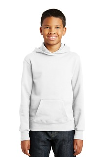 Port & Company® Youth Fan Favorite Fleece Pullover Hooded Sweatshirt.