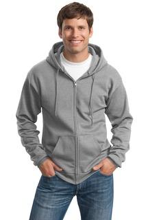 Port & Company® - Essential Fleece Full-Zip Hooded Sweatshirt.