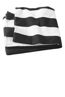 Port & Company® Cabana Stripe Beach Towel.