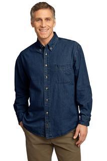 Port & Company® - Long Sleeve Value Denim Shirt.