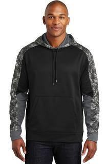 Sport-Tek® Sport-Wick® Mineral Freeze Fleece Colorblock Hooded Pullover.