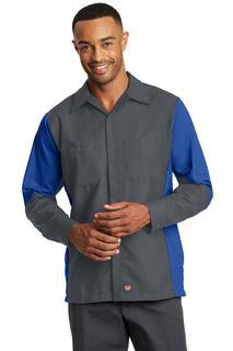 Red Kap® Long Sleeve Ripstop Crew Shirt.