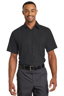 Red Kap® Short Sleeve Solid Ripstop Shirt.