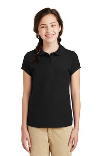 Port Authority® Girls Silk Touch Peter Pan Collar Polo.