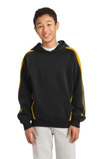 Sport-Tek® Youth Sleeve Stripe Pullover Hooded Sweatshirt.