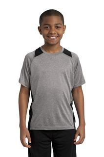 Sport-Tek® Youth Heather Colorblock Contender Tee.