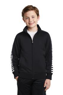 Sport-Tek® Youth Dot Sublimation Tricot Track Jacket.