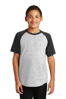 Sport-Tek® Youth Short Sleeve Colorblock Raglan Jersey.