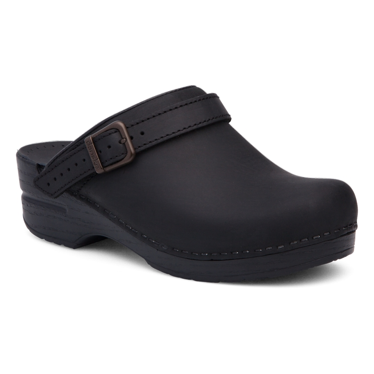 Dansko Black Oiled Ingrid Clog