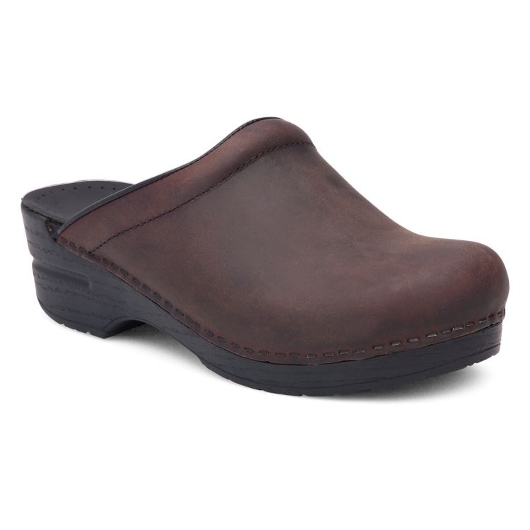 Dansko Antique Brown Black Sole Sonja Clog