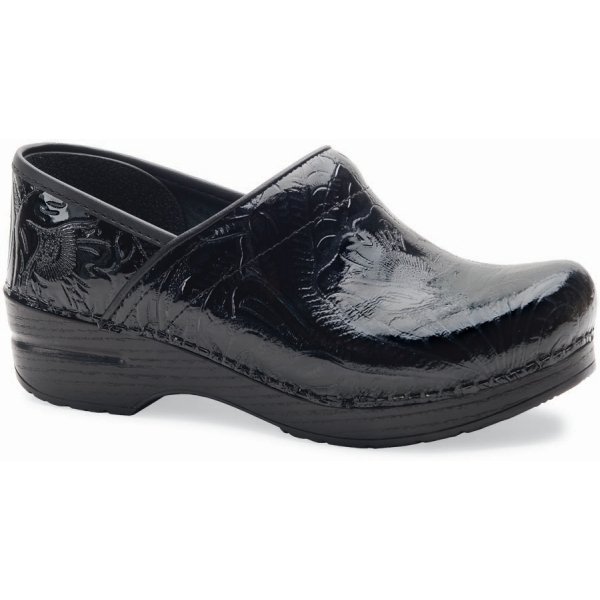 Dansko Black Tooled Professional Clog