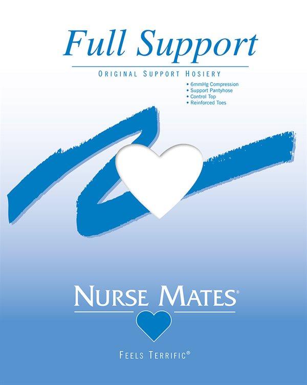 Nurse Mates White Full Support Pantyhose