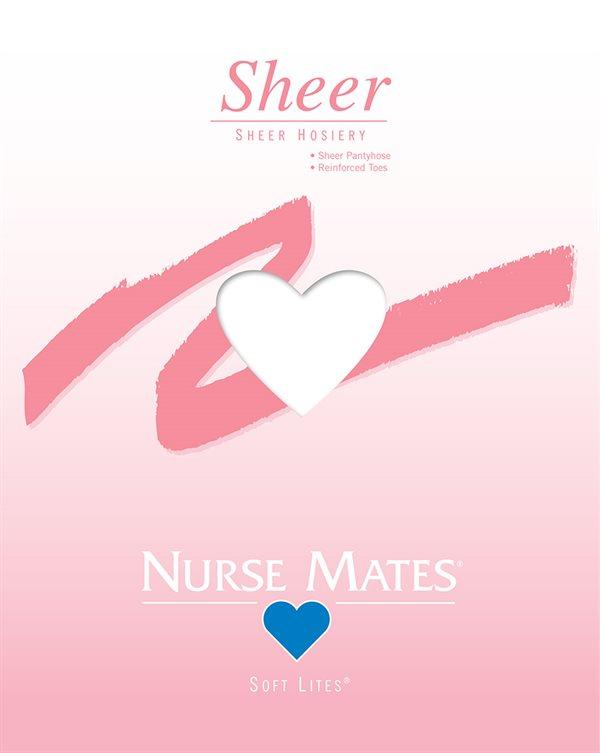 Nurse Mates White Soft Lites Sheer Pantyhose