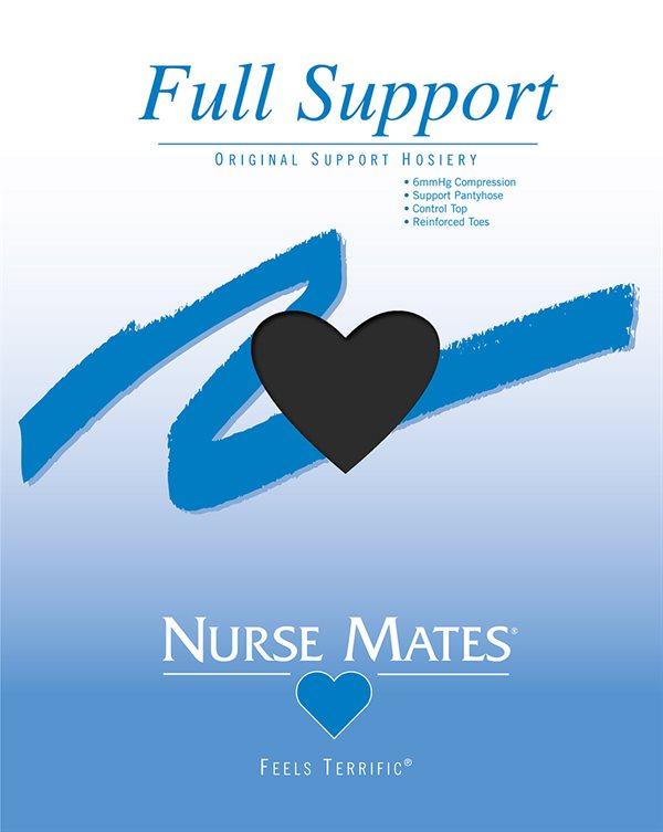 Nurse Mates Jet Black Full Support Pantyhose