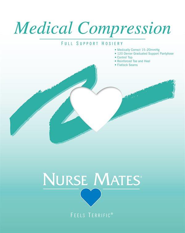 Nurse Mates White Medical Compression Pantyhose