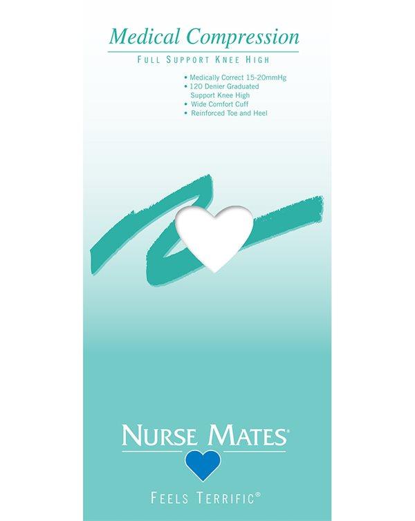 Nurse Mates White Medical Compression Knee High Sock