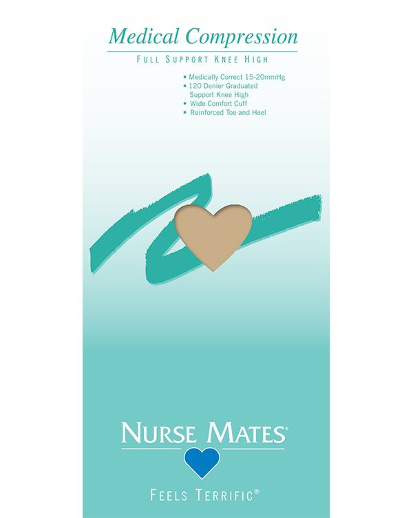 Nurse Mates Nude Medical Compression Knee High Sock