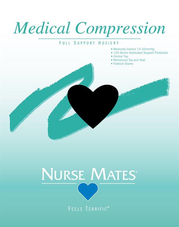 Nurse Mates Black Medical Compression Pantyhose