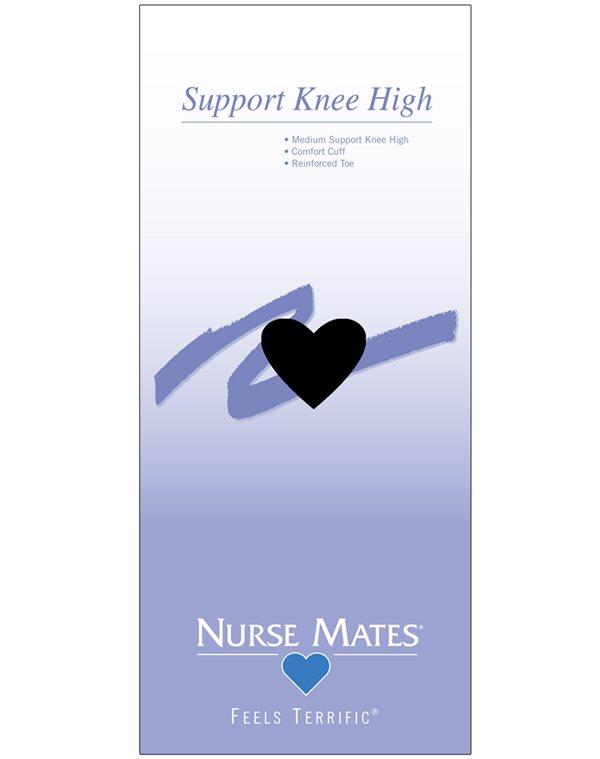 Nurse Mates Black Support Knee High Socks