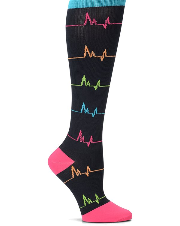 Nurse Mates Black EKG Compression Trouser Socks