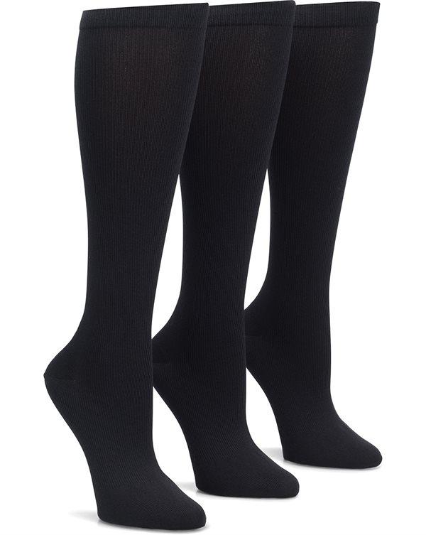 Nurse Mates Black 3-Pack Compression Trouser Socks