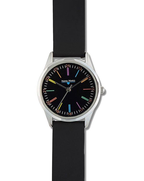 Nurse Mates Black Color Wheel Watch