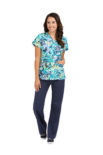 Med Couture Women's Valerie Print Top