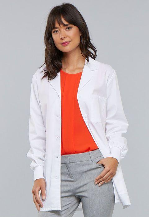 "Cherokee Professional Whites w/ Certainty Plus 32"" Lab Coat"
