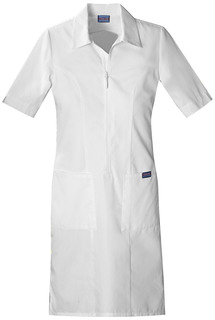 Cherokee Workwear Zip Front Scrub Dress