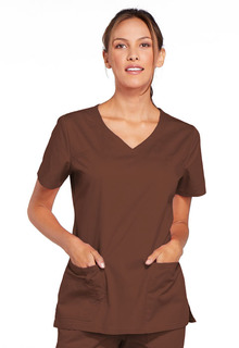 Cherokee Core Stretch Women's V-Neck Top