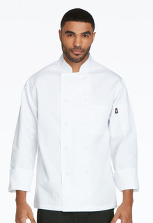 Classic Cloth Covered Button Chef Coat