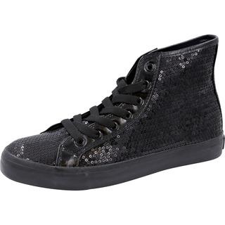 Footwear Sequin Hi Top Lace Up