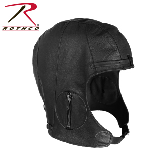 Rothco Leather Pilot Helmet - Black