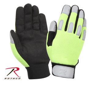 Rothco L/W All Purpose Duty Gloves-Safety Green