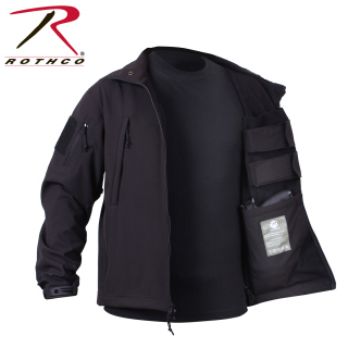 Rothco Concealed Carry Soft Shell Jacket-Black