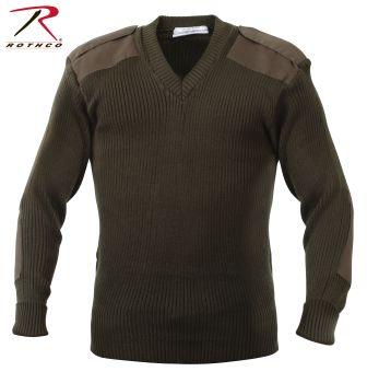 6365 Rothco Acrylic V-Neck Sweater