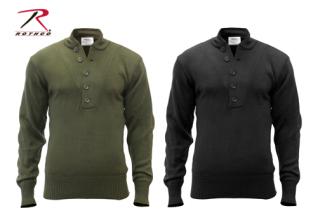 6368 Rothco 5-Button Acrylic Sweater