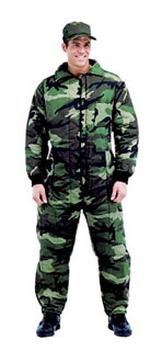Mens Camouflage Insulated Coveralls