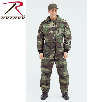 7029 Mens Camouflage Insulated Coveralls