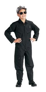 Jr. GI Kids Black Air Force Type Flightsuit