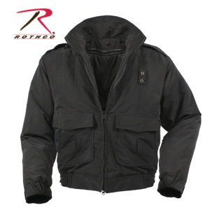 Rothco Water Repellent Duty Jacket With Liner - Black