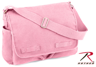 Rothco Heavyweight Canvas Classic Messenger Bag - Pink