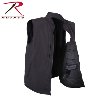 86502 Rothco Concealed Carry Soft Shell Vest -Black
