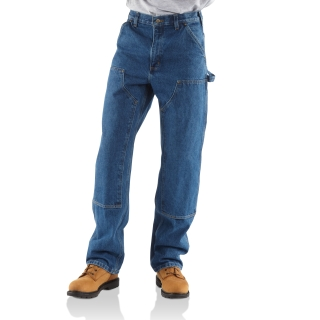 Men's Loose Org Fit Double Front Washed Logger