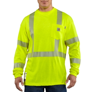 Men's Flame-Resistant High Vis Long Sleeve T Shirt